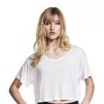 Continental Clothing - Women´s Oversized Cropped Top T-Shirt
